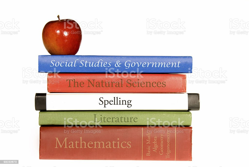 School text books stock photo