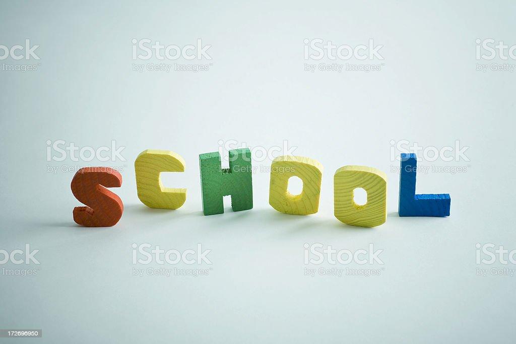 School text letter stock photo
