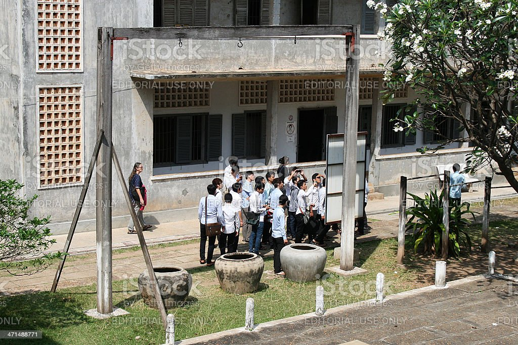 School Trip to Tuol Sleng Genocide Museum (S-21 prison) stock photo
