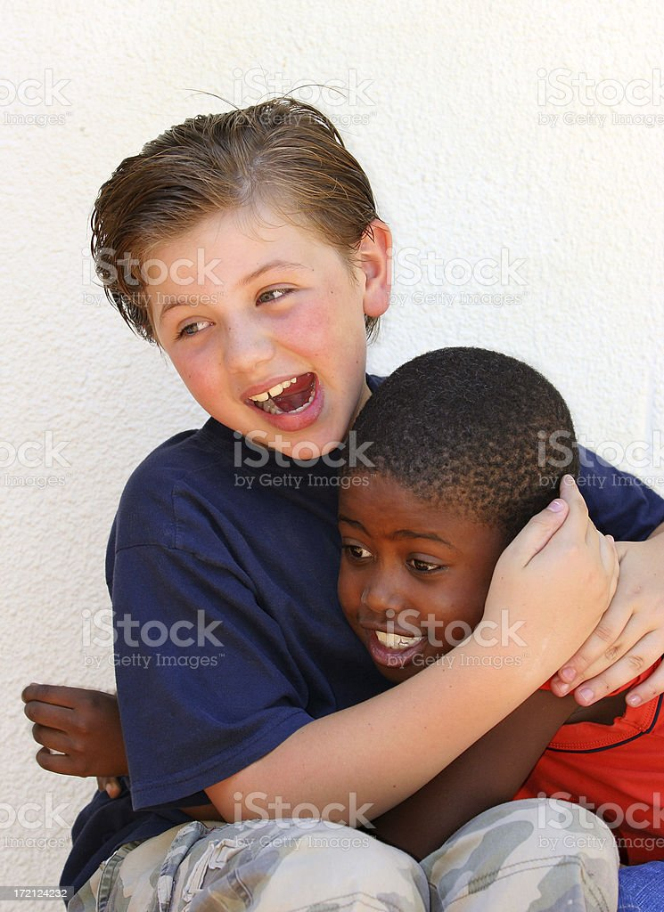 Schoolboy Friends Playing royalty-free stock photo