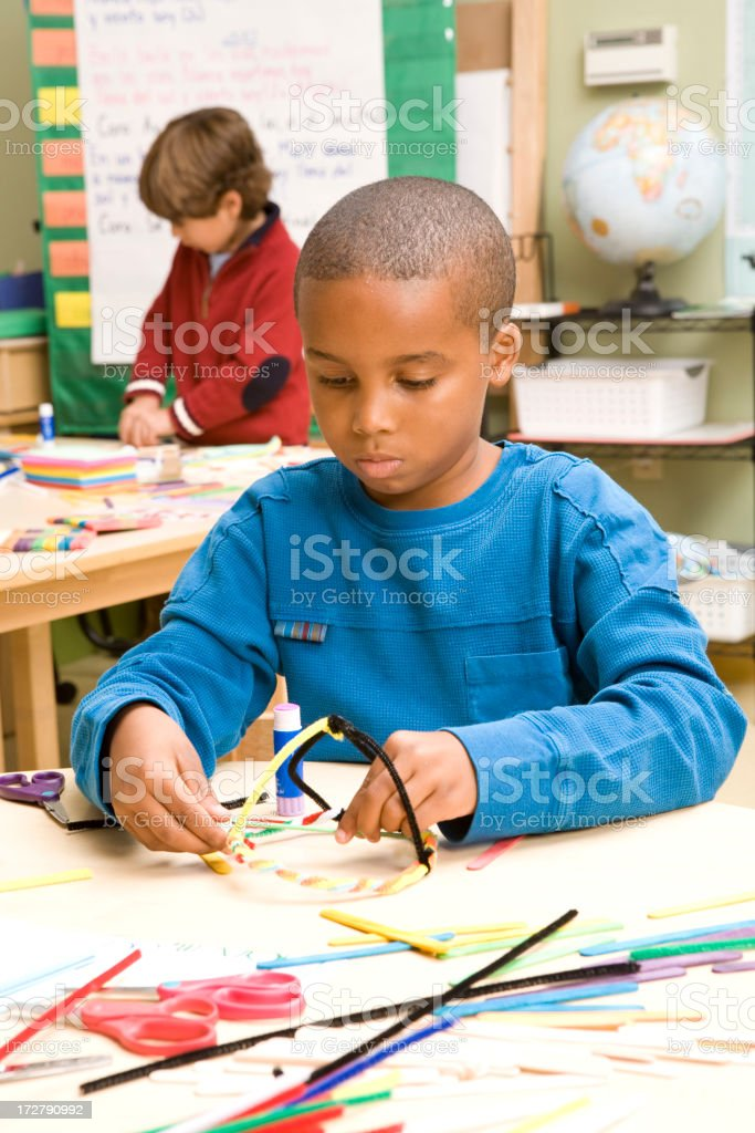 Schoolboy Playing royalty-free stock photo