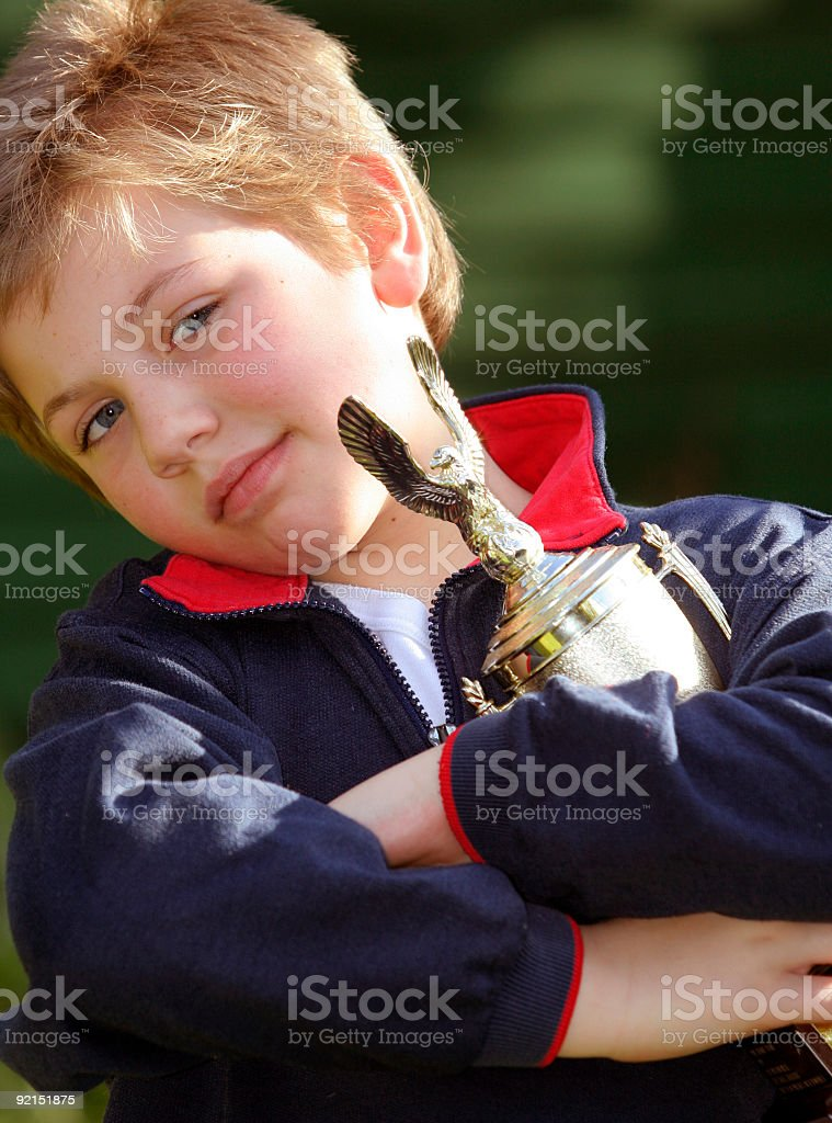 Schoolboy Proud Moment royalty-free stock photo