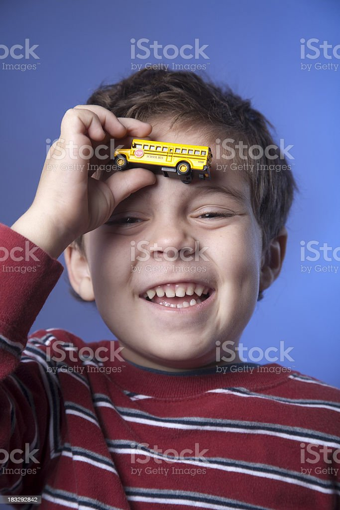 Schoolboy Thinking About School royalty-free stock photo