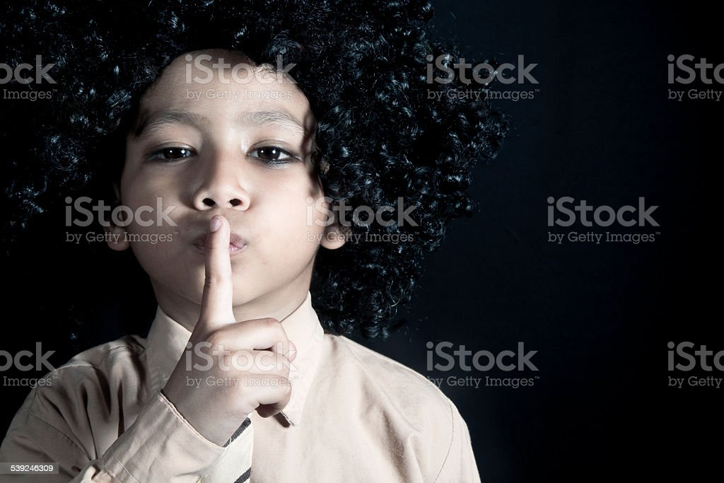 Keep quiet stock photo