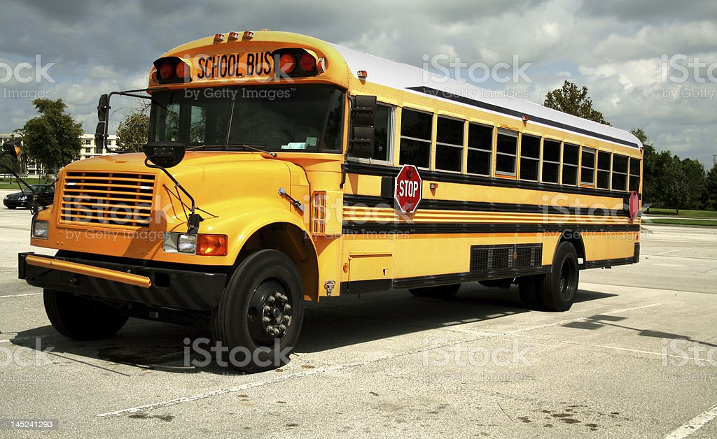 Schoolbus royalty-free stock photo