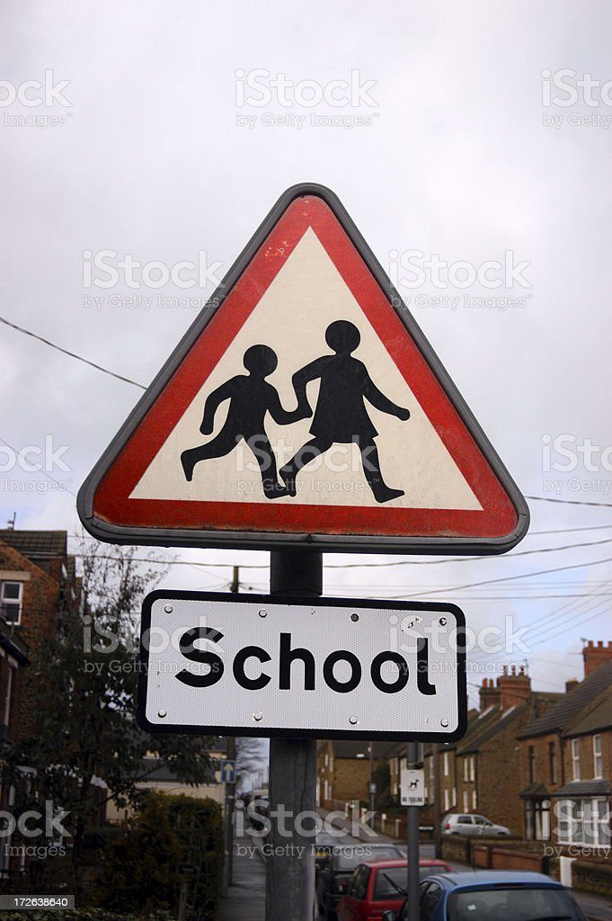 School-children crossing royalty-free stock photo