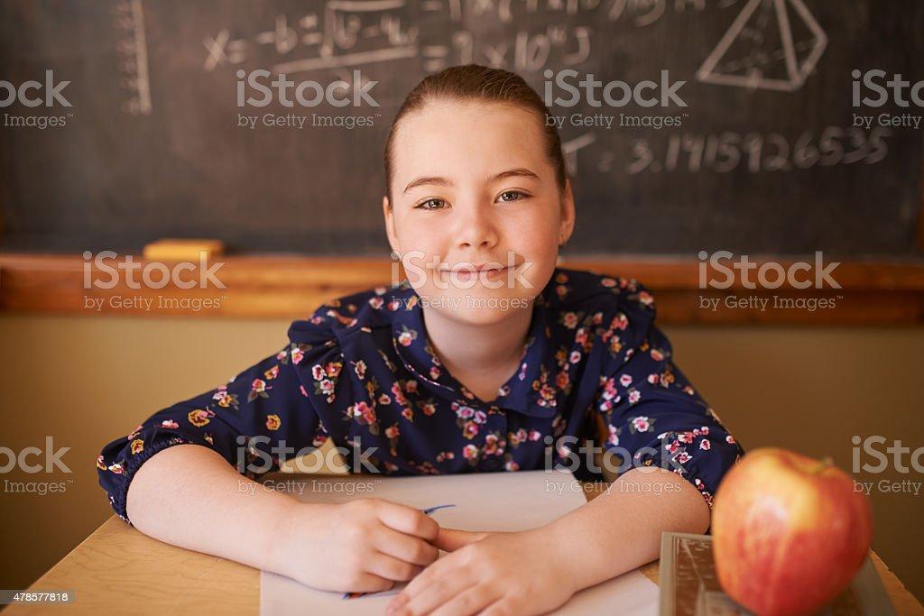 Schooldays are here stock photo