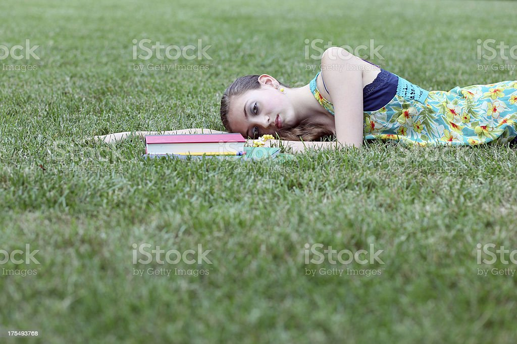 Schoolgirl Dreams royalty-free stock photo