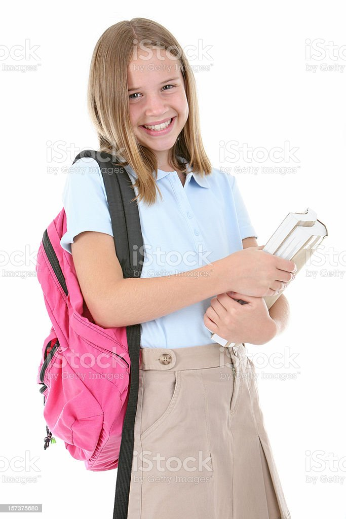 Schoolgirl. royalty-free stock photo