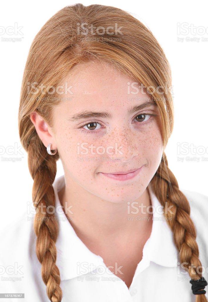 Schoolgirl Portrait. royalty-free stock photo