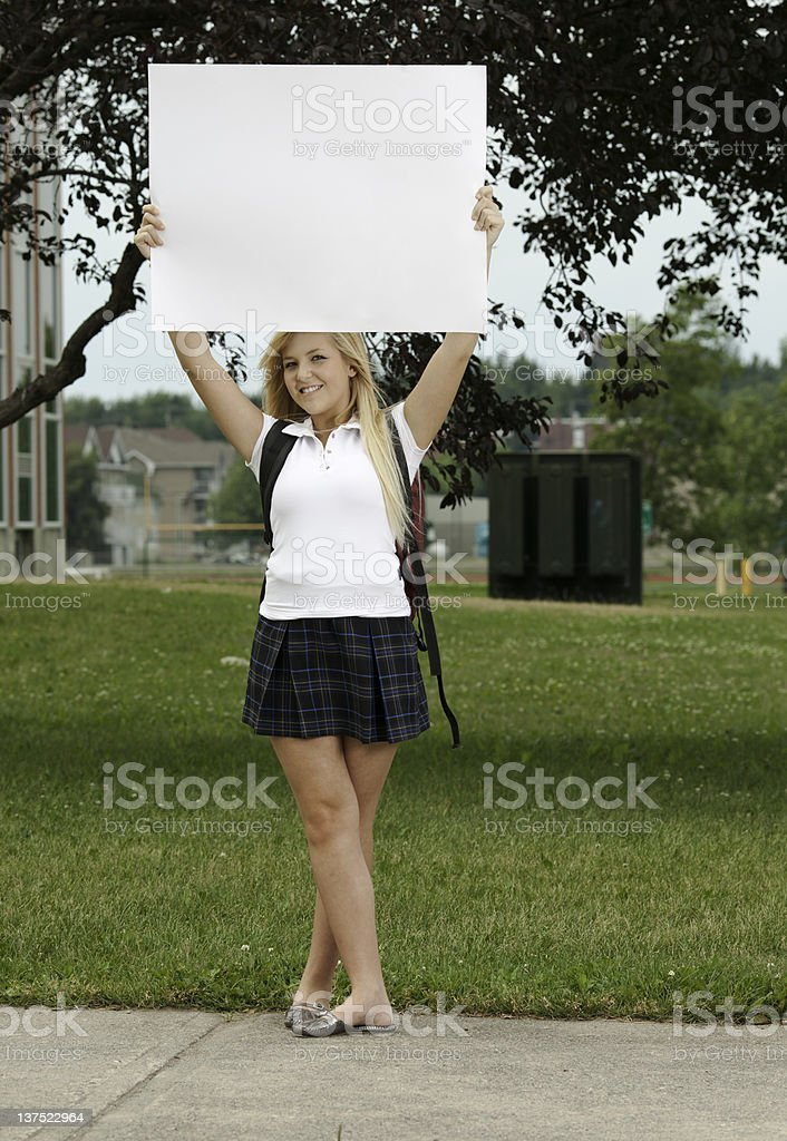 Schoolgirl Poster stock photo