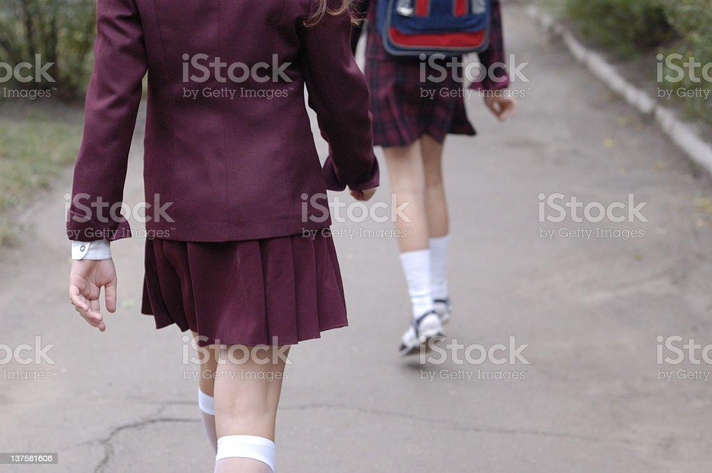 schoolgirls2 stock photo