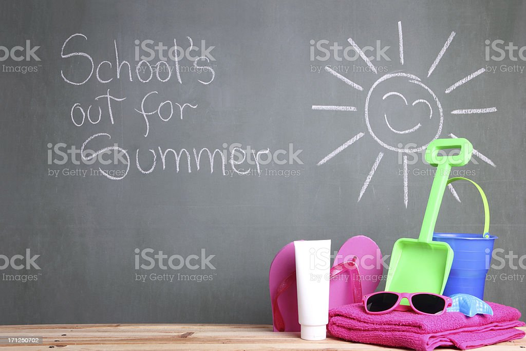 School's Out For Summer stock photo