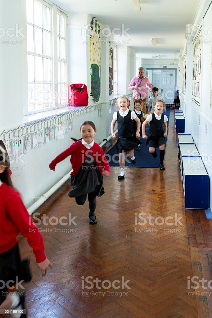Schools Out! stock photo