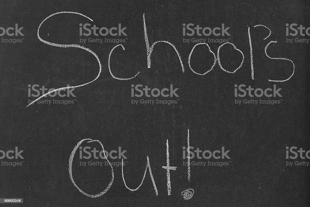 School's Out! royalty-free stock photo
