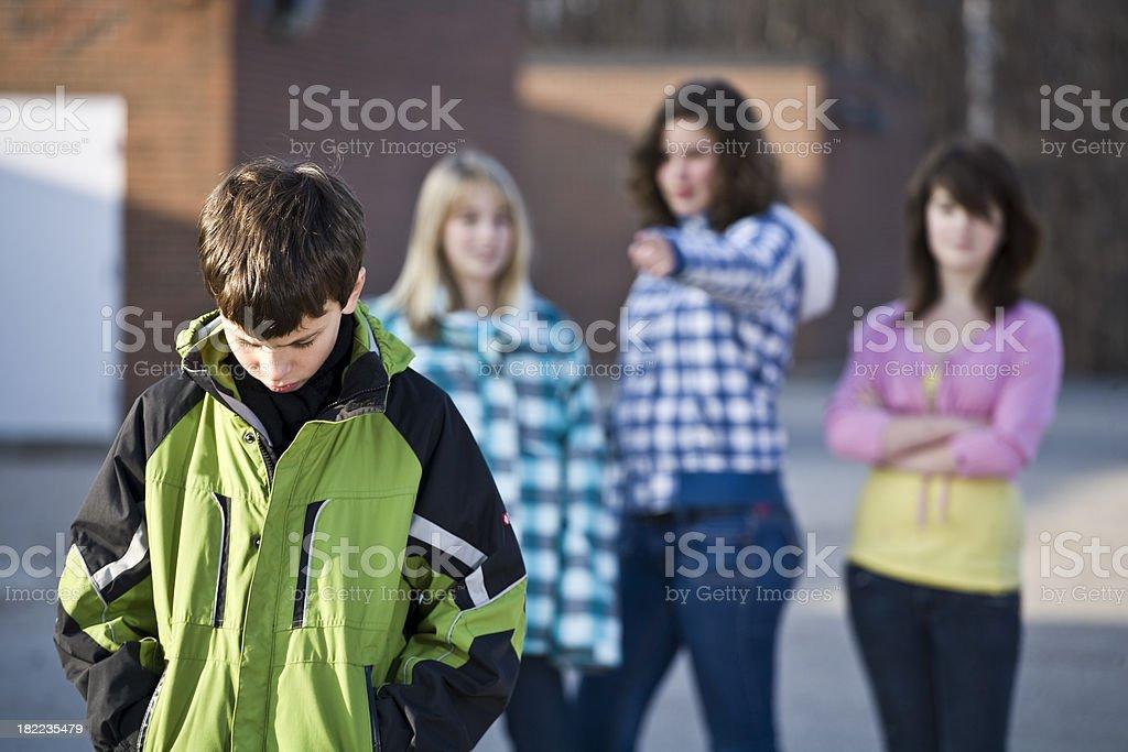 Schoolyard bully royalty-free stock photo