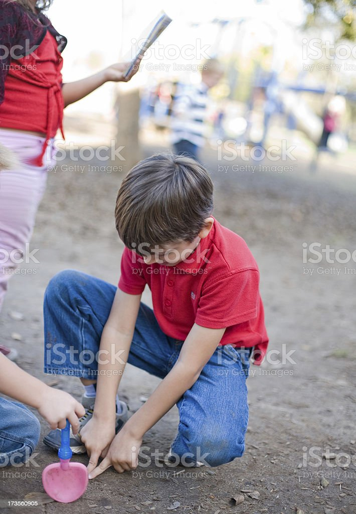 Schoolyard royalty-free stock photo