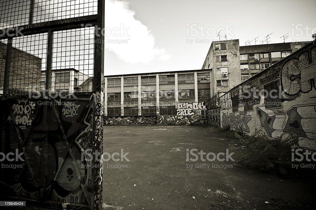 Schoolyard royalty-free stock photo