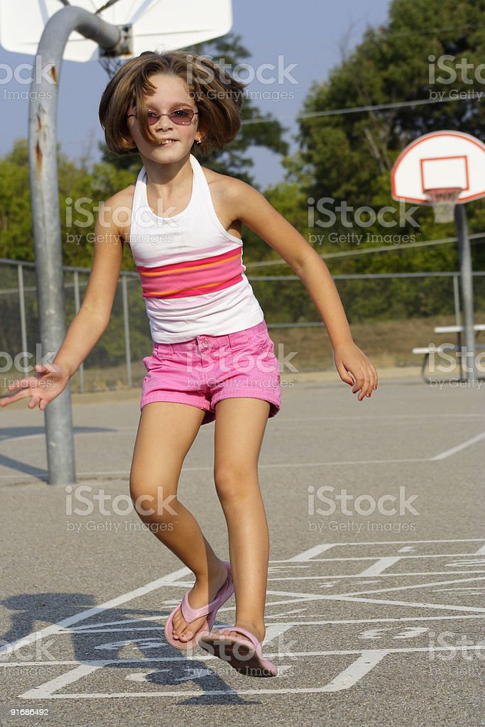 Schoolyard Play royalty-free stock photo