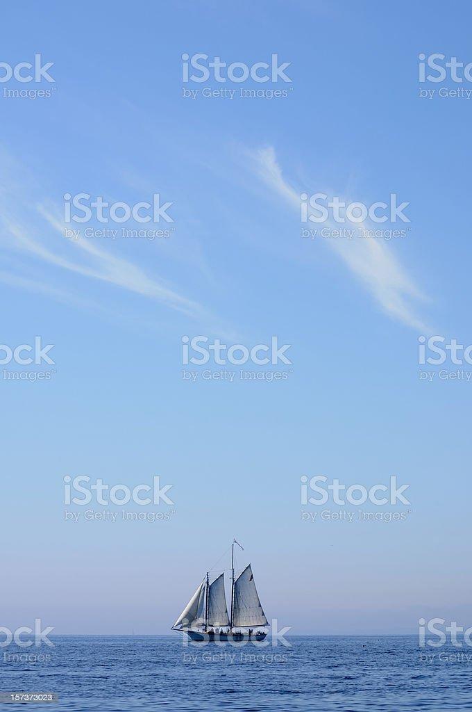 Schooner and Sky, Camden royalty-free stock photo