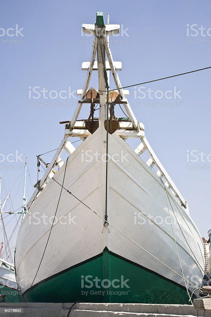 Schooner bow royalty-free stock photo