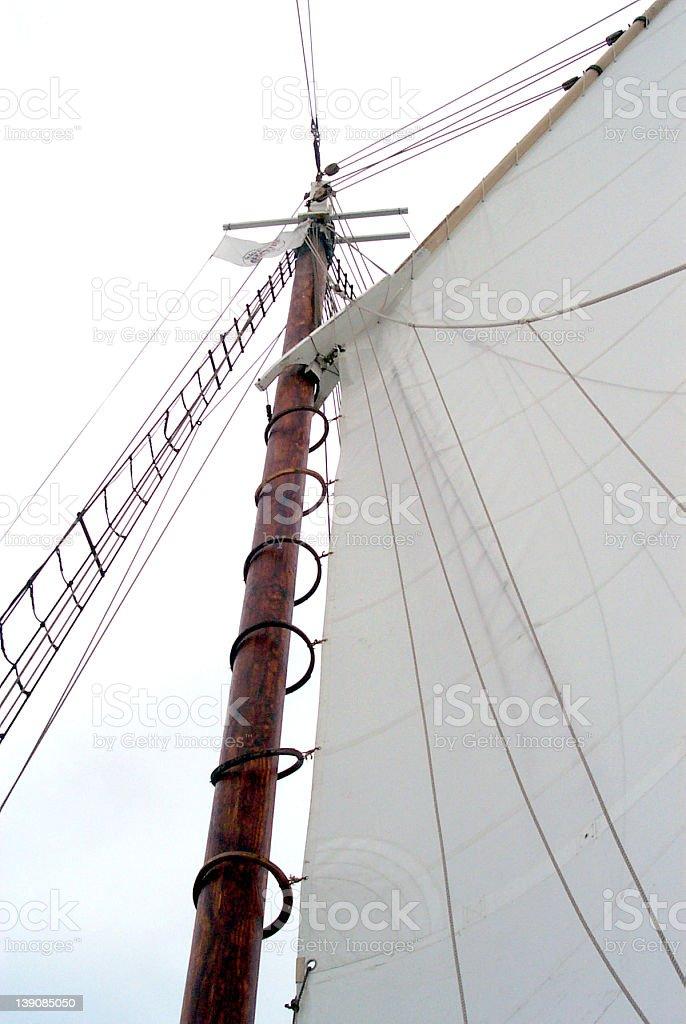 Schooner Mast royalty-free stock photo