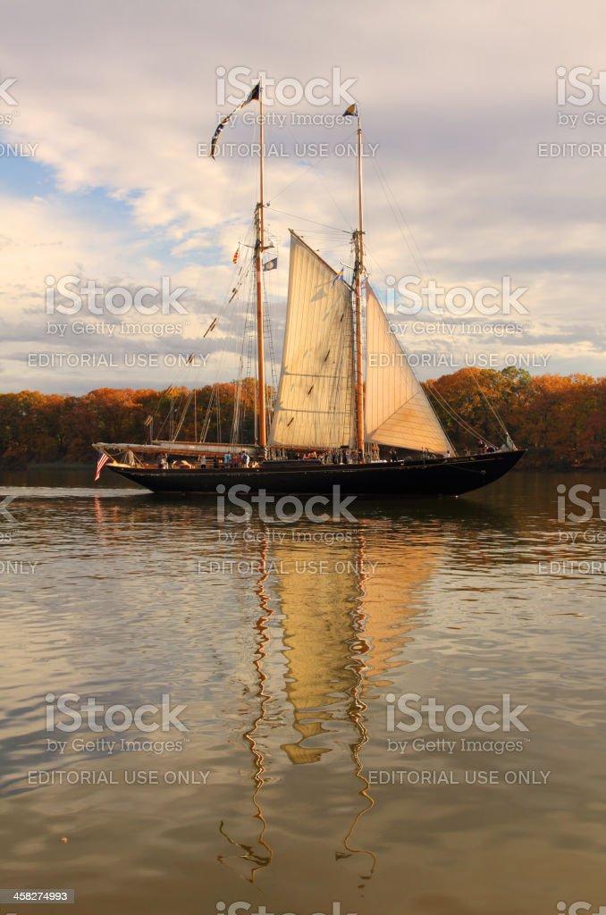 Schooner Virginia on the Chester River stock photo