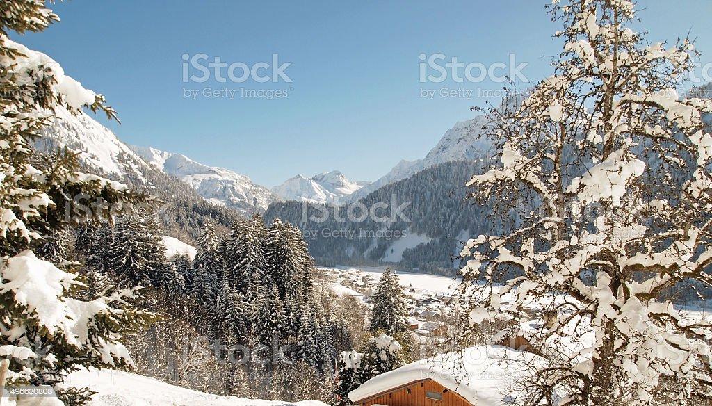 Schoppernau in Vorarlberg stock photo