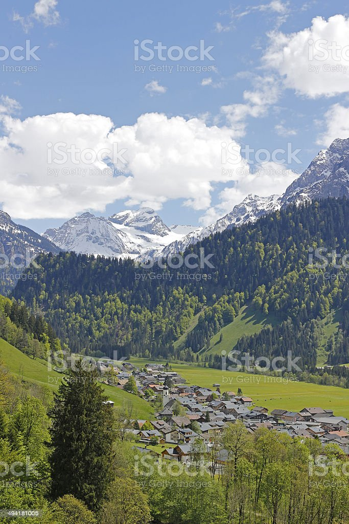 Schoppernau: Small Village in the Bregenzerwald stock photo