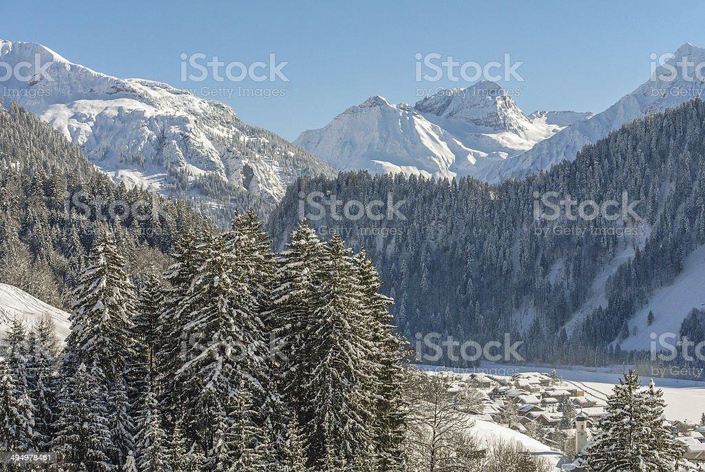 Schoppernau: Small Village in the Bregenzerwald stock photo