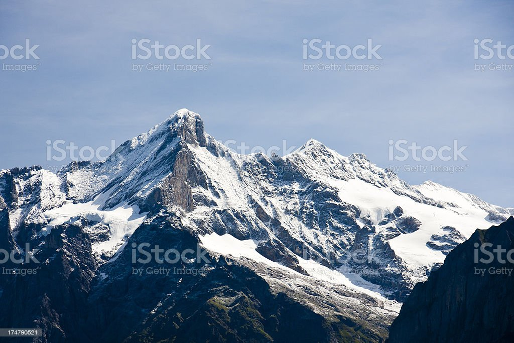 Schreckhorn And Wetterhorn, Swiss Alps royalty-free stock photo