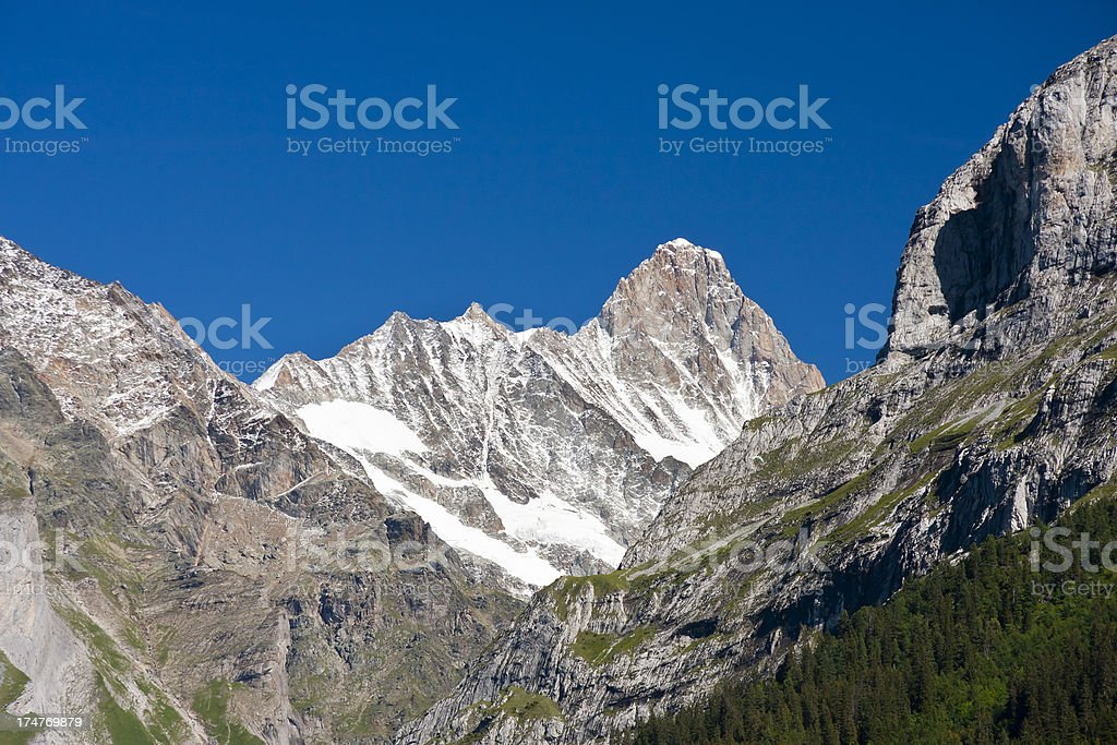 Schreckhorn, Swiss Alps stock photo