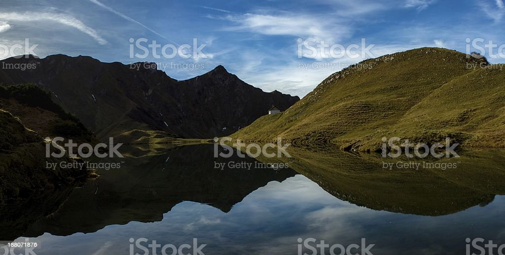 Schrecksee - Lake in the German Alps stock photo