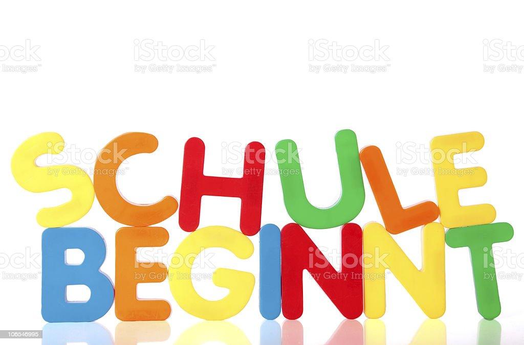 Schule beginnt - school starts stock photo