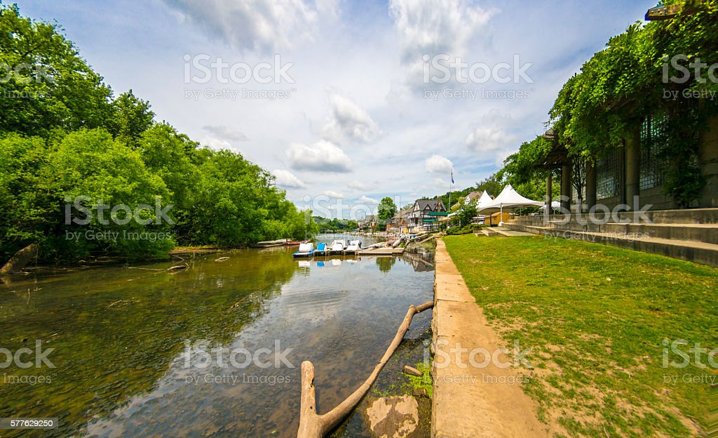 Schuylkill River Boat Club in Philadelphia stock photo