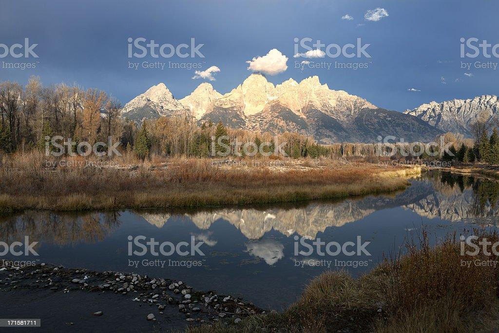 Schwabacher Landing, Grand Teton National Park royalty-free stock photo