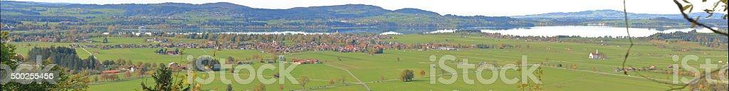 Schwangau Panorama stock photo