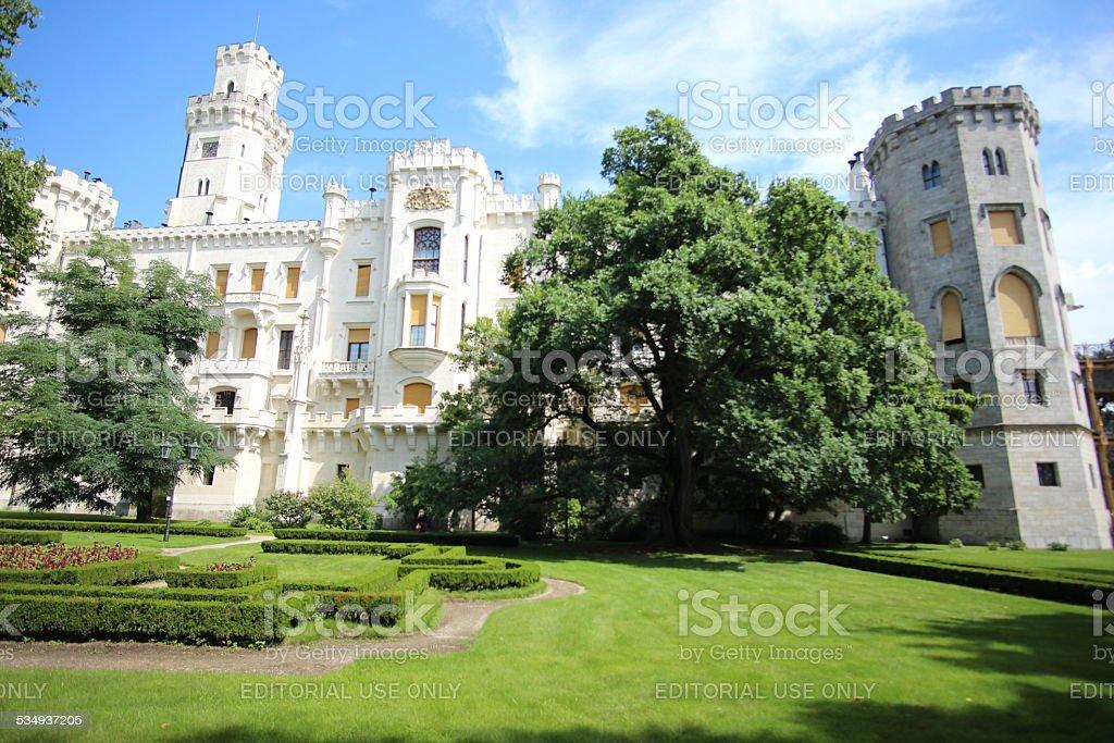 Schwarzenberg Castle stock photo