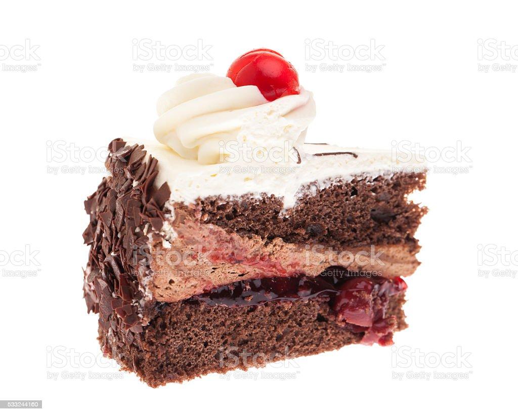 'Schwarzwälderkirschtorte' - A small piece of Black Forest Cake stock photo