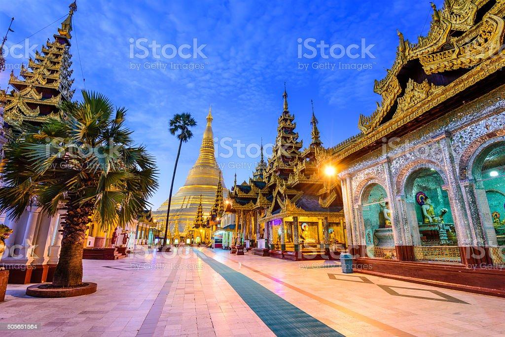 Schwedagon Pagoda of Myanmar stock photo