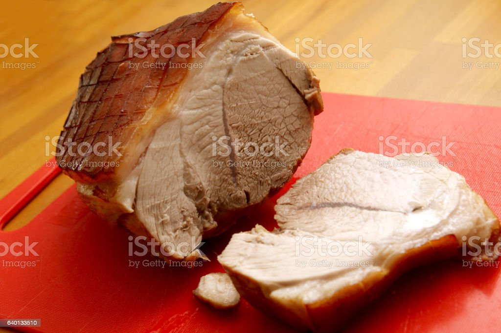 schweinekrustenbraten stock photo