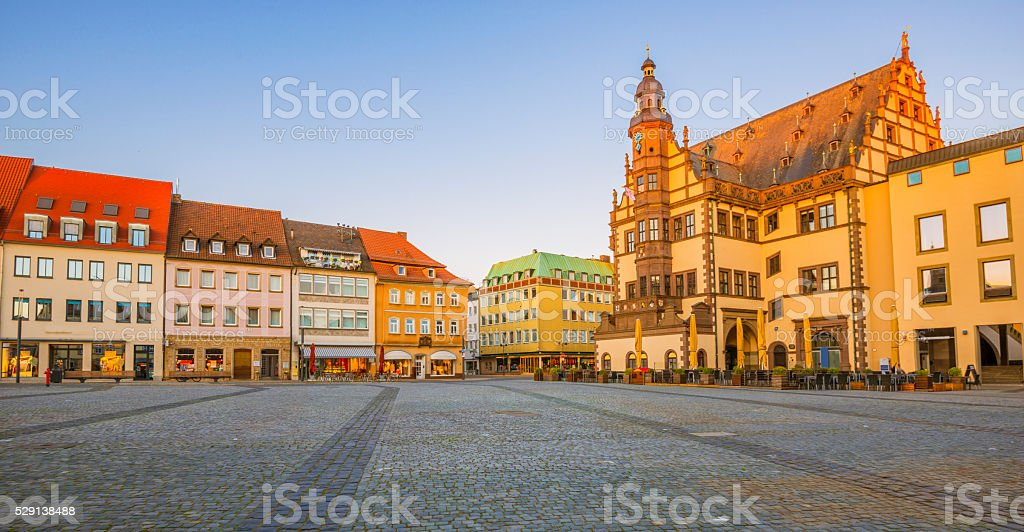 Schweinfurt - Town Hall and Market Square stock photo