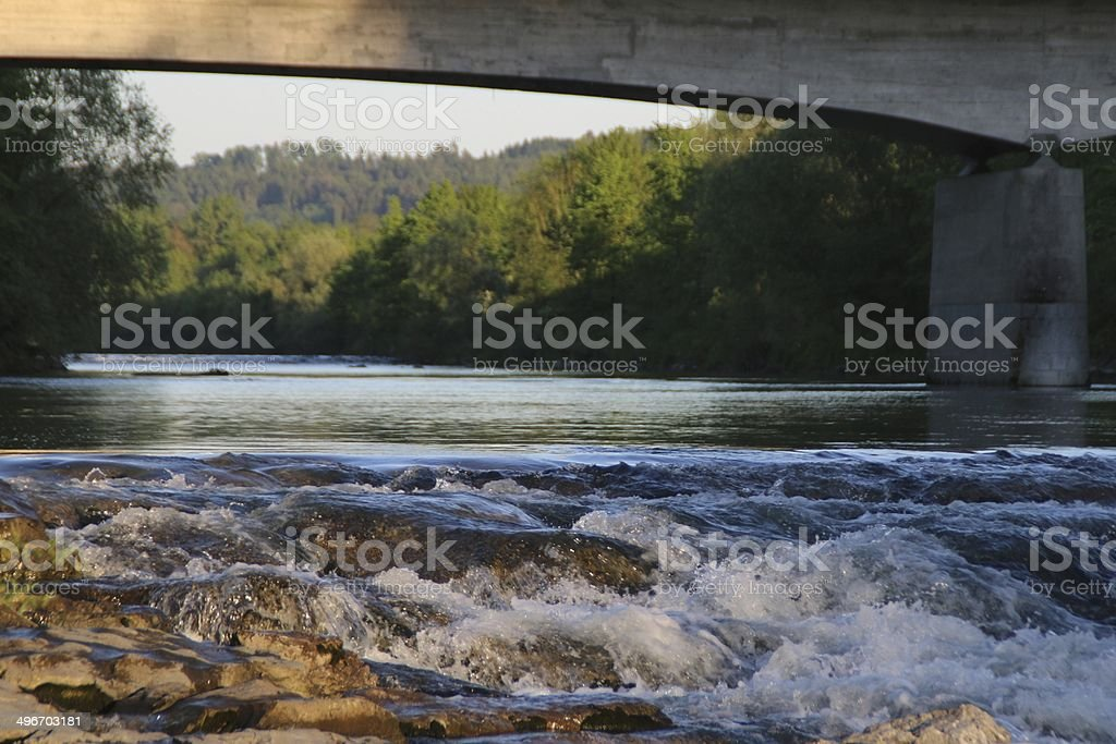 Schweizer Fluss - Swiss River stock photo