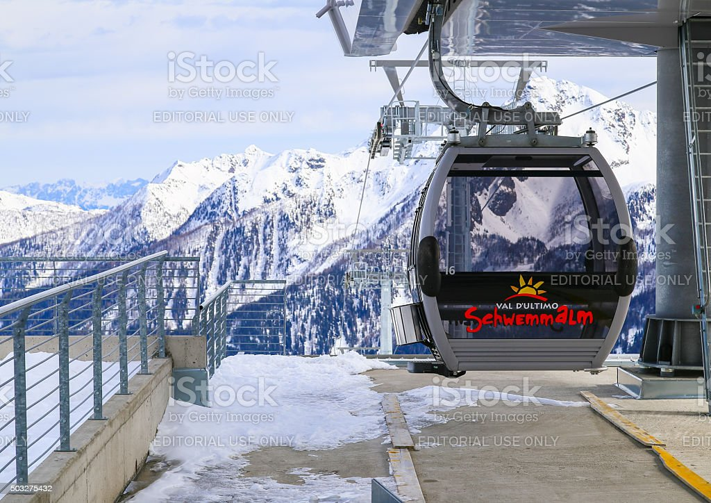 Schwemmalm Gondola Lift stock photo