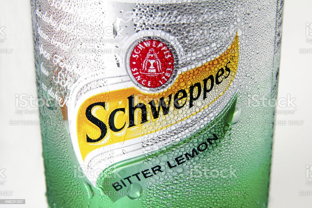 Schweppes Bitter Lemon royalty-free stock photo