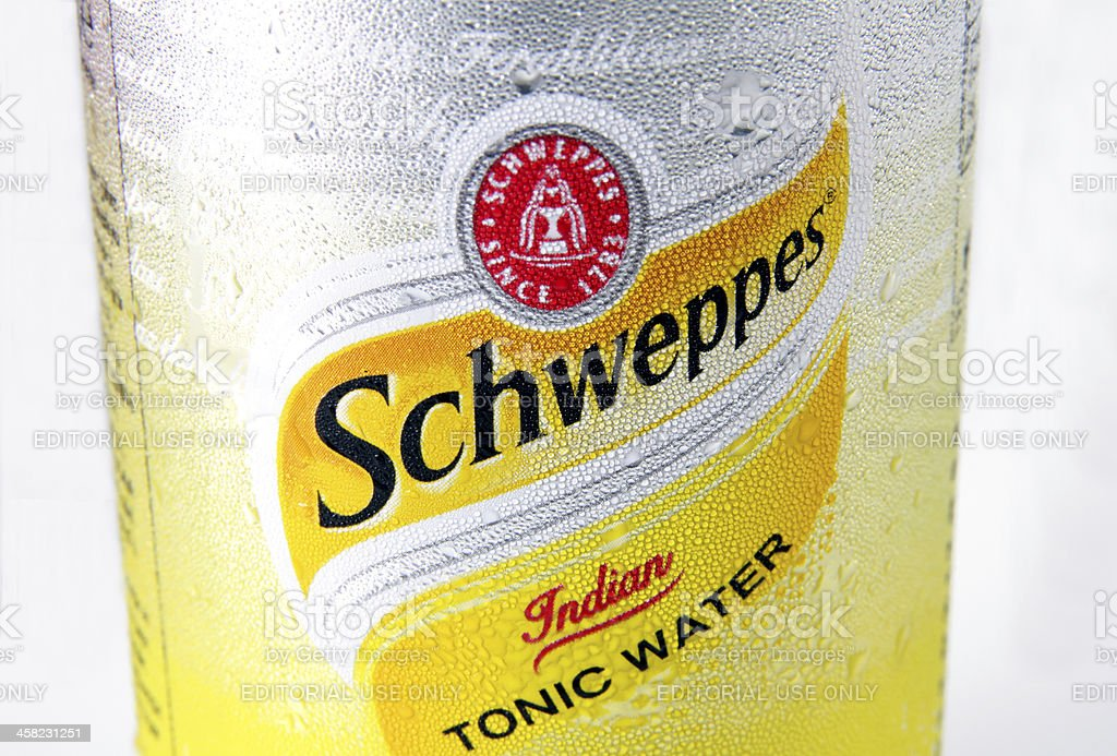 Schweppes Tonic Water royalty-free stock photo
