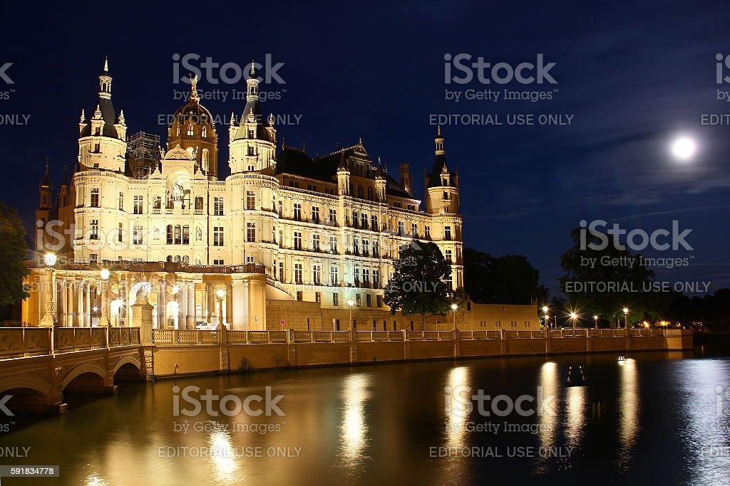 Schwerin Castle (Schweriner Schloss), Germany stock photo