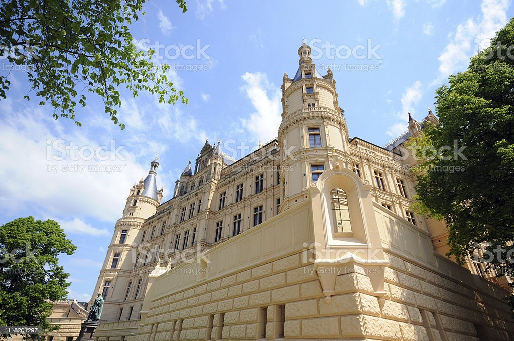 Schwerin Castle (Germany) stock photo