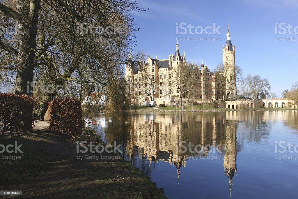 Schweriner Schloss und Landtag stock photo