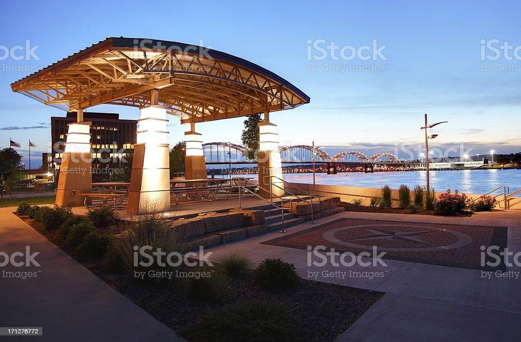 Schwiebert Riverfront Park royalty-free stock photo